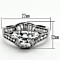 Women's Stainless Steel 316 Aaa Grade Cubic Zirconia Engagement Wedding Ring