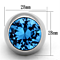 Women's Stainless Steel 316 Aquamarine Synthetic Glass Dome Cocktail Ring
