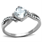 Women's Stainless Steel 316 Cushion Cut .915 Carat Zirconia Engagement Ring