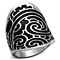 Women's Stainless Steel 316 High Polished Tribal Epoxy Fashion Ring