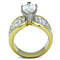 Women's Stainless Steel 316 Marquise 4.28Ct Zirconia Two Toned Engagement Ring
