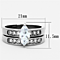 Women's Stainless Steel 316 Marquise Cut Zirconia Engagement Wedding Ring Set