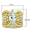 Women's Stainless Steel 316 Marquise Cut Zirconia Gold Plated Engagement Ring