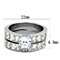 Women's Stainless Steel 316 Princess Cut 3.75 Carat Zirconia Wedding Ring Set