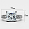 Women's Stainless Steel 316 Princess Cut 5.95 Carat Zirconia Engagement Ring