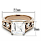 Women's Stainless Steel 316 Princess Cut Zircona Rose Gold Engagement Ring