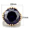 Women's Stainless Steel 316 Rose Gold Plated Amethyst Zirconia Cocktail Ring