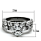 Women's Stainless Steel 316 Round 3.10 Ct Zirconia Engagement Wedding Ring Set