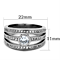 Women's Stainless Steel 316 Round Cut Cubic Zirconia Anniversary Ring Band