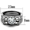 Women's Stainless Steel 316 Round Cut Cubic Zirconia Vintage Wedding Ring Set