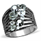 Women's Stainless Steel 316 Top Grade Crystal Vintage Cluster Cocktail Ring