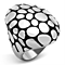 Women's Stainless Steel 316 Two Toned Ion Plated Dome Fashion Ring
