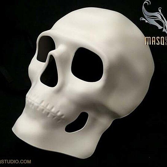 Skull masquerade mask makeup