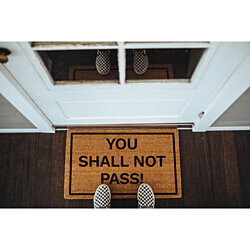 """You Shall Not Pass!"" coir doormat"