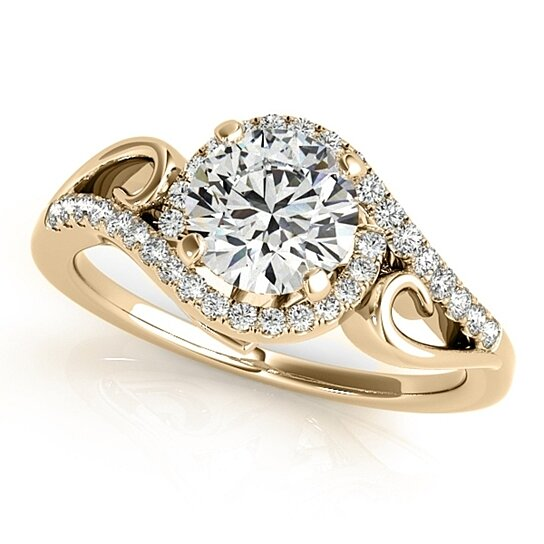 buy 1 2 carat halo engagement ring in 14k solid
