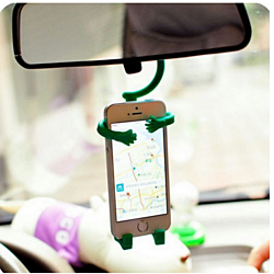 Cute people shape silicone car phone holder