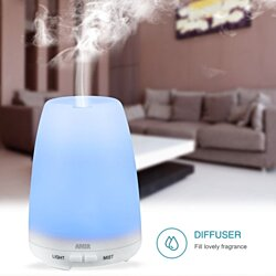 Ultrasonic Cool Mist Aroma Humidifier -Aromatherapy Oil Diffuser With 7 Color Changing LED