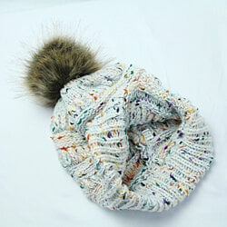 Multi-color Pompom Knit Hat in 9 Colors