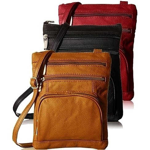 Super Soft Leather Crossbody Bag in 6 Colors