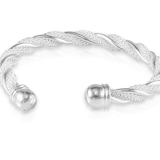 Twisted Mesh Bracelet In Sterling Silver By Maze Exclusive On Opensky
