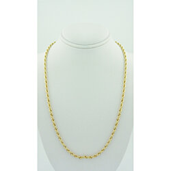 2MM Gold filled rope chain