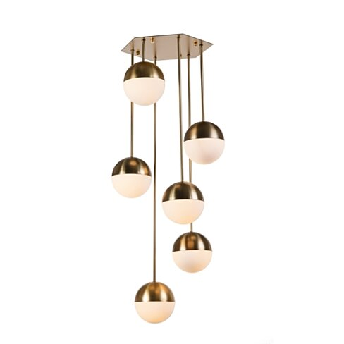 Arredoluce 6-Light Hanging Lamp - Brass