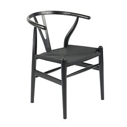 CH24 Wishbone Y Chair - Black