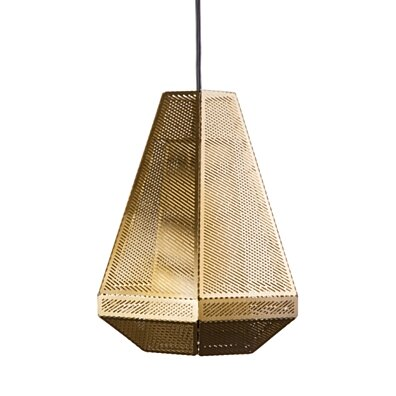 Cell Tall Pendant - Brass