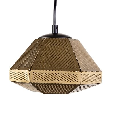 Cell Wide Pendant Lamp - Brass