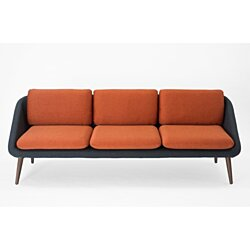 Venice Sofa - Grey / Orange