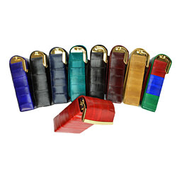 EEL SKIN CIGARETTE AND LIGHTER HOLDER