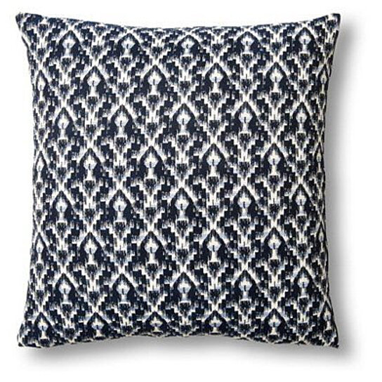 Max Studio Home Decorative Pillow : Buy Cotton Jacquard Pillow in Ikat Blue by Metallique Studio on OpenSky