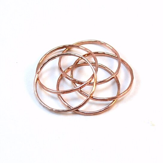 buy gold or gold stacking rings set of 5 stackable