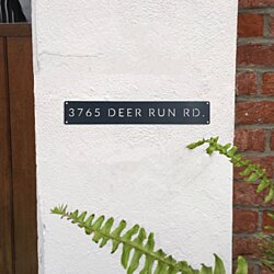Classic Metal Address Plaque