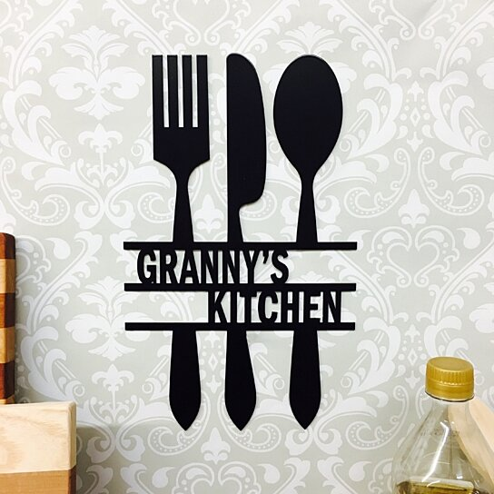 """Personalised Kitchen Signs: Buy Personalized Kitchen Sign 14.5"""" X 11"""" By Metal"""
