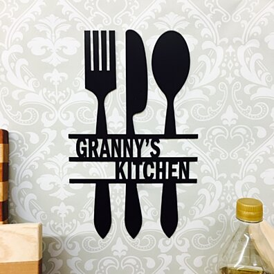 "Personalized Kitchen Sign 15"" x 11"""