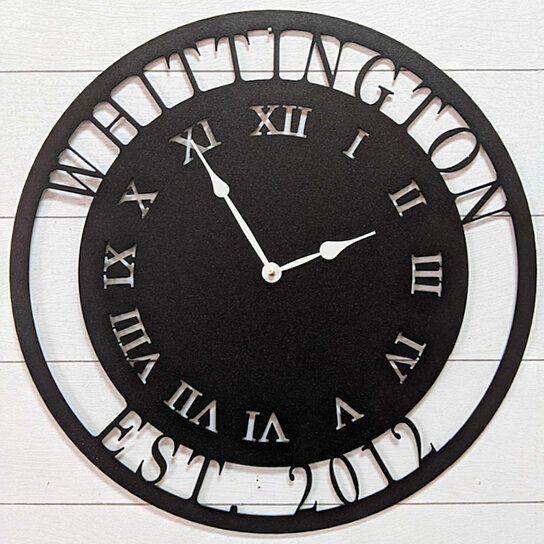 metal personalized clock clocks unlimited decor metalunlimited names