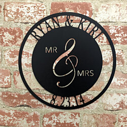 Personalized Mr. and Mrs. Sign Metal Sign
