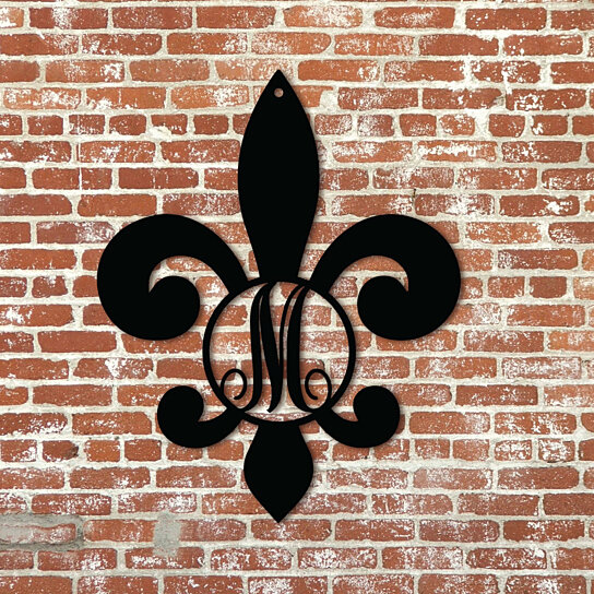 Buy Single Initial Fleur De Lis 14 5 Quot X 12 Quot By Metal