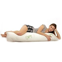 Bamboo Body Pillow With Organic Memory Foam