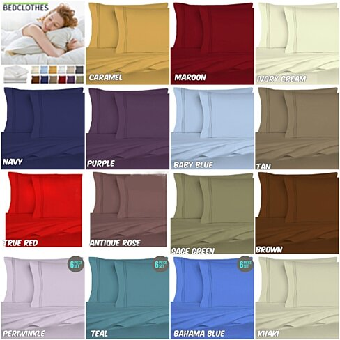 Super Soft 1800 Series 6 Piece Microfiber Sheet Set