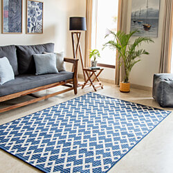 MH Home London - Ameline Indoor & Outdoor Rugs Navy