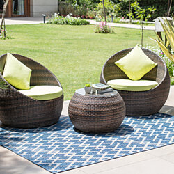 MH Home London - Ameline Indoor & Outdoor Rugs Blue