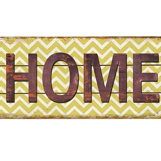 Buy Rustic Decor Home Chevron Wood Sign by M Home Decor on