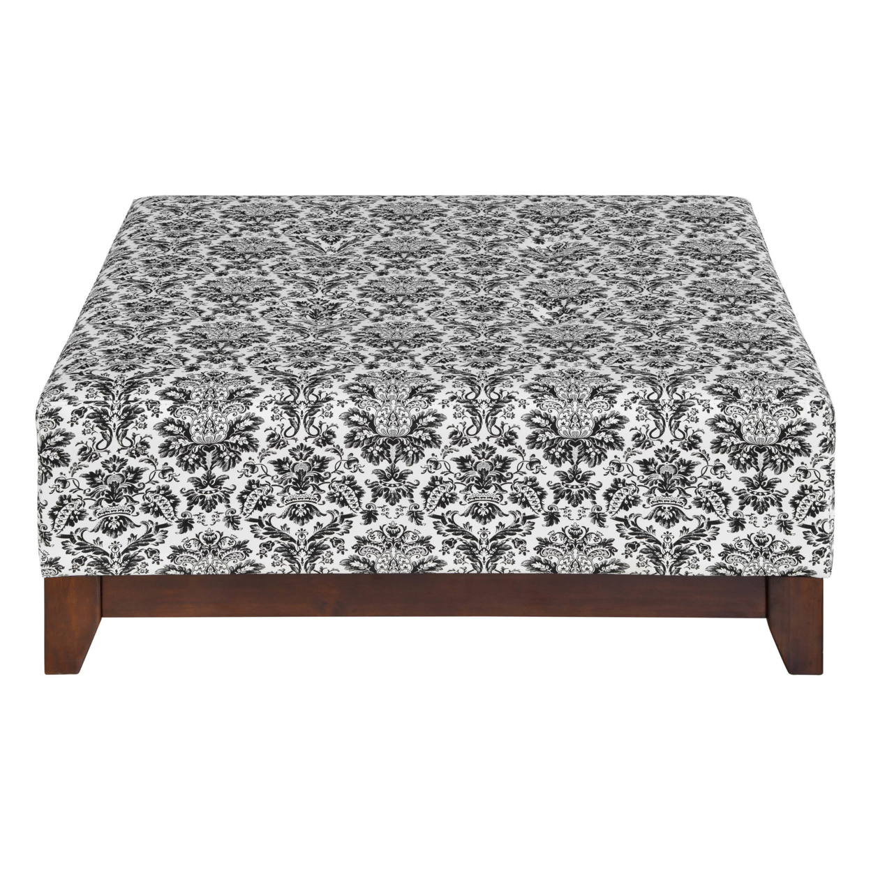 Ada Large Black and Ivory Printed Ottoman