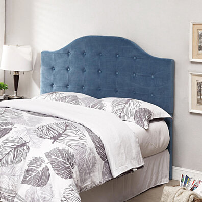 Blue Full/Queen Tufted Headboard