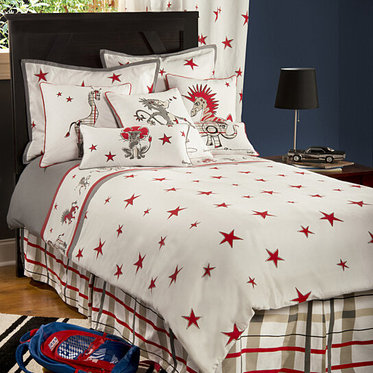 buy boys punk animal stars white gray full size comforter bed set by michael anthony furniture. Black Bedroom Furniture Sets. Home Design Ideas