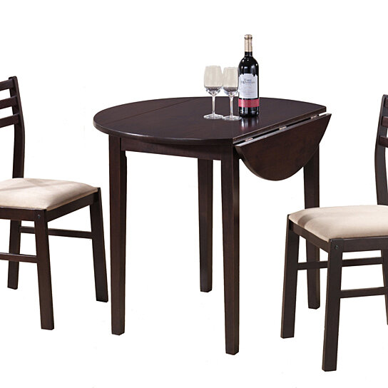 Buy Cappuccino 3 Piece Dining Set with a 36quot Round Drop  : generous from opensky.com size 544 x 544 jpeg 34kB