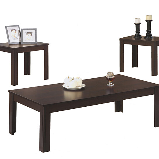 Buy cappuccino 3 piece table set by michael anthony for Three piece living room table set