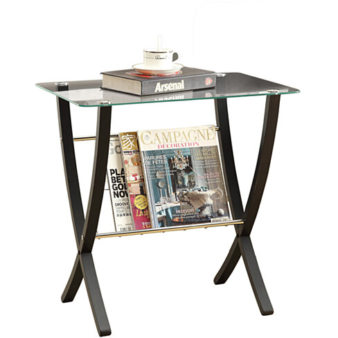 Cappuccino Bentwood Magazine Table with Tempered Glass
